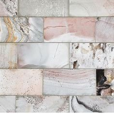 Hints of pink and blush in marble tiles. Blush Bathroom, Bathroom Colors, Bathroom Small, Pink Marble, Marble Tiles, Tiling, Tile Design, Bathroom Interior, Interior Inspiration