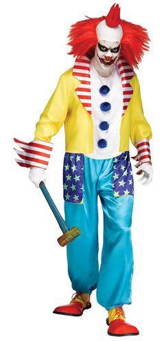 Evil Clown Costume Adult Scary Freak Show Killer Halloween Fancy Dress 71765087698 Scary Clown Halloween Costume, Halloween Fun, Clown Costumes, Pirate Costumes, Halloween Photos, Halloween Fashion, Halloween Projects, Halloween Horror, Halloween Outfits
