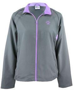 Purple Paw Heart Lightweight Jacket - LARGE #AnimalRescue #BasicJacket