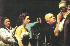 Emmy Rossum & Gerard Butler on the set of The Phantom of the Opera (2004)