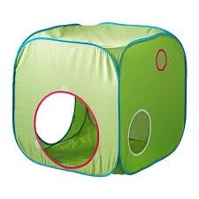 So fun, so simple and SO inexpensive: the Ikea BUSA kids pop-up tent.