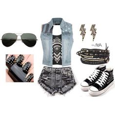 Cool rock and roll outfit