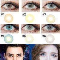 wish 1 pair aurora polar lights halloween color contact lenses eye lens - Contact Lenses Color Halloween