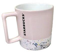 Starbucks Valentine's Pink White Paint Splatter Ceramic Mug 2018 New  | eBay