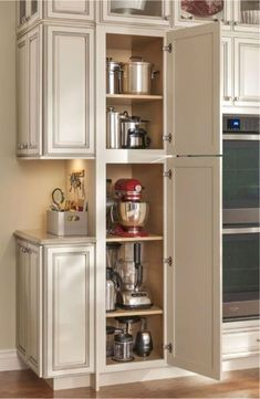 COM Smart kitchen cabinet organization ideas 19 44 Smart Kitchen Cabinet Organization Ideas - GODIYGO.COM Smart kitchen cabinet organization ideas 19 Farmhouse Kitchen Cabinets, Modern Kitchen Cabinets, Kitchen Redo, New Kitchen, Kitchen Appliances, Kitchen Ideas, Kitchen Pantry, Kitchen Hacks, Kitchen Designs