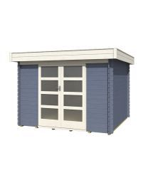 Outdoor Life Products Olga 300 Pigeon Blue  tuinhuisje / blokhut Platinum Grey, Outdoor Life, Outdoor Furniture, Outdoor Decor, Outdoor Storage, Garage Doors, Shed, Outdoor Structures, Pigeon