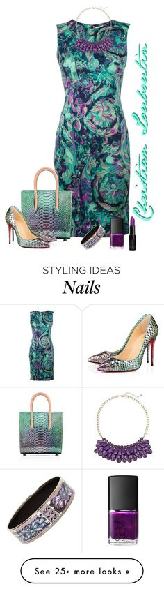 Christian Louboutin matching bad and shoes by lorrainekeenan on Polyvore featuring Versace, Hermès and NARS Cosmetics