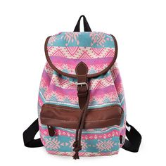 DGY Girl's Vintage Canvas Backpack College Backpack Cute Rucksack Print Backpack -- See this great product. (This is an Amazon Affiliate link)