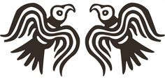Viking Odin raven black PAIR vinyl decal by sparrowhawk9 on Etsy, $5.00