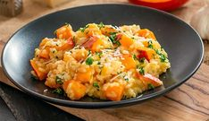 Risotto Cremeux, Veggie Dinner, Vegetable Recipes, Baked Potato, Potato Salad, Cauliflower, Food And Drink, Vegetables, Cooking