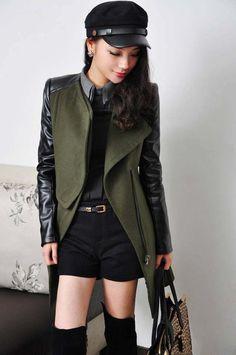 Style  commuting Length  length Sleeve length  long sleeve The collar   Double collar 097e09fb64f