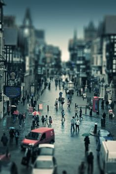 Tilt shift photos are photos of real places but made to look like miniature models. The tilt shift name comes from the optical way of creating the effect. Tilt Shift Photography, Street Photography, Nature Photography, Photography Ideas, Tilt Shift Photos, Star Wars, Chasing Dreams, Like Instagram, Perfect Photo