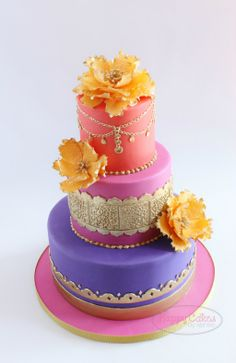 Moroccan+Themed+(Baby+Shower)+Cake