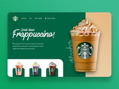 Grab Your Frappuccino! designed by Ashraful Hadi Rahat 🎨 for Team Oreo. Web Banner Design, Banner Design Inspiration, Website Design Inspiration, Motion Design, Frappuccino, Creative Banners, Web Banners, Creative Brochure, Ads Creative