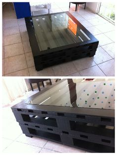 Pallet Coffee Table #CoffeeTable, #RepurposedPallet