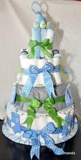 Diaper Cake for Alex