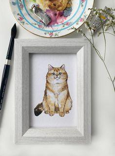 4x6 Art Print: Orange Floof | Etsy British Shorthair, Watercolor Texture, Colored Pencils, Paper Texture, This Is Us, Art Prints, Orange, Studio, Cats