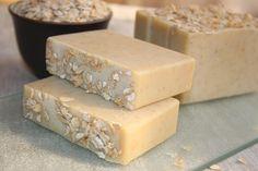 oatmeal soap, natural vegan soap