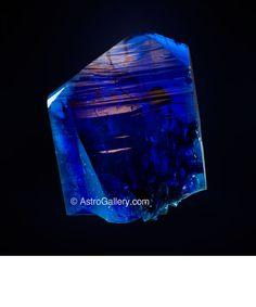 Tanzanite Gem Crystal from Merelani Mines, Arusha, Tanzania