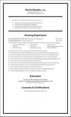 Sample LPN Resume Objective Creative Resume Design Templates