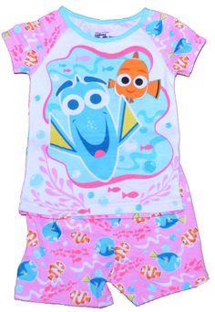 Disney Finding Dory Nemo Toddler Girl Cotton Tight-fit Pajamas 2 Pc Set