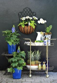 Outdoor Bar Cart for your Summer Patio