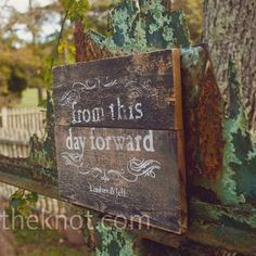 Super cute - and can incorporate into home after wedding