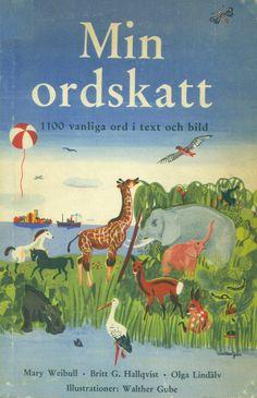 Ordbok för barn i 7-10 årsåldern med 800-900 teckningar av Walther Gube