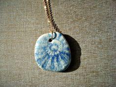 Sea shell necklace shell necklace sea necklace blue sea от Oerine
