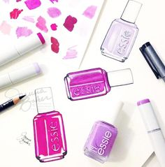 Crushing on this gorgeous essie illustration, featuring everyone's favourite purple, 'play date'