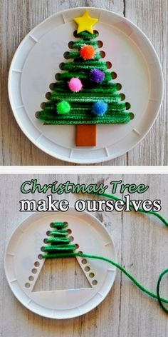 Weihnachtsbaum machen uns Kids Crafts diy crafts for kids christmas Fun Diy Crafts, Preschool Crafts, Diy Crafts For Kids Easy, Painting Crafts For Kids, Craft Paint, Preschool Age, Daycare Crafts, Diy Arts And Crafts, Baby Crafts