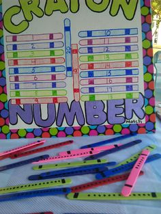 crayon number meaning and recognition with crayon pieces