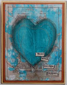Mixed Media card created by Christy Houser                                                                                                                                                     More