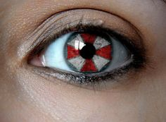 umbrela contacts   Resident Evil Umbrella Corporation color Stainless Steel Ring