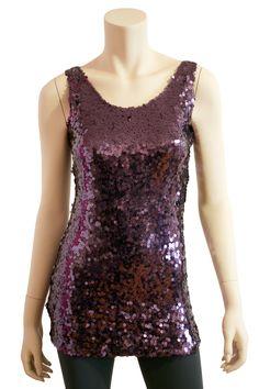 Purple Sequin Top  $36.50    http://ecloset.ca/collections/tops-2/products/purple-sequin-top