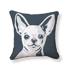 For Unites Courneya Dark Gray Chihuahua Reversible Pillow Dachshund, Cool Color Palette, Chihuahua Art, Pillow Set, Pillow Covers, Joss And Main, Decoration, Light In The Dark, Decorative Throw Pillows
