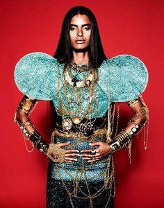 Lakshmi Menon in The Cover of Dazed & Confused, April