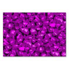 Purple Leopard Print Table Card