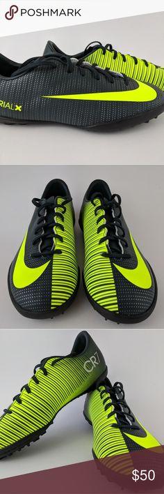 dc64b643b841e Nike Ronaldo Mercurial X VI Turf Soccer Shoes New without tags. Nike  Ronaldo Mercurial X VI Turf Soccer Shoes Sz Blk Volt Nike Shoes Sneakers