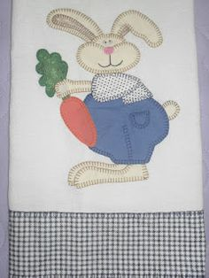 Mais um modelo de pano de prato para a Páscoa:    Segue o molde abaixo:     Abraço a todos...  E um ótimo final de semana!  Bjooss