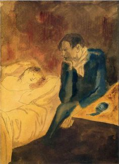 Pablo Picasso. Sleeping woman 1904