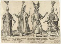 Kleding van Ottomaanse soldaten rond 1580, Abraham de Bruyn, Joos de Bosscher, 1581