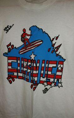 NOS Vtg 80's 90's Surfin U.S.A. White Graphic T Shirt Beach Boys tank top large #screenstars #GraphicTee