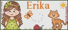 Cross Stitch Borders, Cross Stitches, Crochet Patterns, Kawaii, Embroidery, Comics, Cats, Fictional Characters, Salad