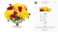 Chinese New Year, DIY flower arranging kit with floral recipes, using the Flowers by Number starter kit