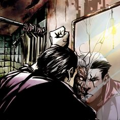 Two Face ~ Dustin Nguyen Batman Bad Guys, Two Face Batman, Batman Meme, Batman And Superman, Batman Stuff, Dustin Nguyen, Batman Universe, Dc Universe, Gotham Villains