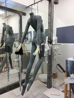 """""""The making of our new Skye Mannequin"""", by Panache Display, UK, inned by Ton van der Veer"""