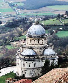 Santa Maria della Consolazione, Todi, Italy (Todi is a charming town)