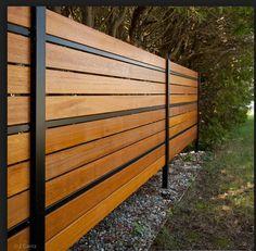 Hardwood Decking, Backyard Fences, Garden Fencing, Backyard Projects, Backyard Landscaping, Fenced In Front Yard, Front Yard Fence, Fence Gate, Front Porch