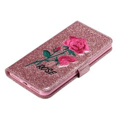 >> Click to Buy << Glitter PU Leather Embroider Rose Flip Cover Wallet Case For Apple IPhone 5 5S SE 6 6S/6 6S Plus /7 /7 Plus Phone Bags Cases #Affiliate